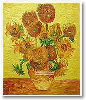 Vangogh oil painting Sunflower