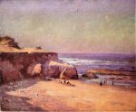 On the Oregon Coast - Theodore Clement Steele Oil Painting