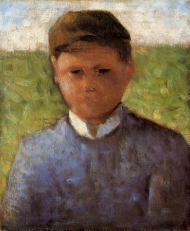 Young Peasant in Blue -Georges Seurat Oil Painting