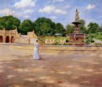 An Early Stroll in the Park - William Merritt Chase Oil Painting