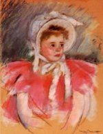Simone in White Bonnet Seated with Clasped Hands (no.1) - Mary Cassatt Oil Painting