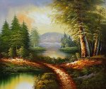 West Of The Rockies - Oil Painting Reproduction On Canvas