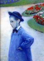 Camille Daurelle in the Park at Yerres - Gustave Caillebotte Oil Painting