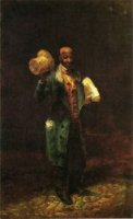 Moses, The Baltimore News Vendor - Thomas Waterman Wood Oil Painting