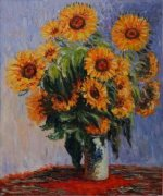 Sunflowers - Claude Monet Oil Painting