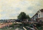 Construction Site at Saint-Mammes II - Alfred Sisley Oil Painting