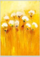 Some yellow and white flowers - Oil Painting Reproduction On Canvas