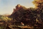 The Mountain Ford - Thomas Cole Oil Painting