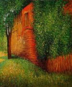 Farmhouse At Kammer - Gustav Klimt Oil Painting