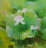Lotus flowers - Oil Painting Reproduction On Canvas