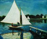 Sailing at Argenteuil II - Claude Monet oil painting