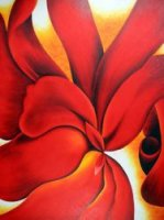 Red Cannas III - Georgia O'Keeffe Oil Painting
