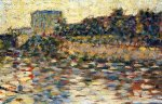 Courbevoie, Landscape with Turret - Georges Seurat Oil Painting