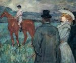 At the Races - Henri De Toulouse-Lautrec Oil Painting
