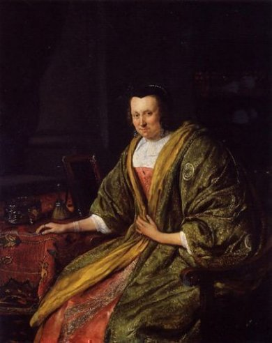 Portrait of Geertruy Gael, Second Wife of Gerrit Gerritsz Schouten - Oil Painting Reproduction On Canvas