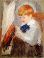 Robert and His Sailboat - Mary Cassatt Oil Painting