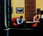 Room in New York II - Edward Hopper Oil Painting