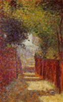 - Rue Saint-Vincent, Montmartre, in Spring - by Georges Seurat