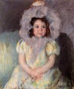 Margot in White - Mary Cassatt Oil Painting