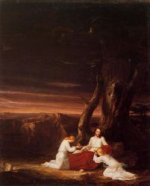 Angels Ministering to Christ in the Wilderness - Thomas Cole Oil Painting