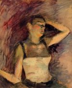 Study of a Dancer - Henri De Toulouse-Lautrec Oil Painting