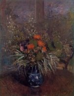 Bouquet of Flowers - Alfred Sisley Oil Painting