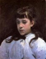 Young Girl Wearing a White Muslin Blouse - John Singer Sargent Oil Painting