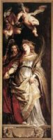 Raising of the Cross: Sts Eligius and Catherine - Peter Paul Rubens Oil Painting