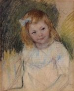 Sara Looking towards the Right - Mary Cassatt Oil Painting