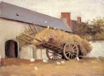Loaded Haycart - Gustave Caillebotte Oil Painting