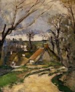 The Cottages of Auvers - Paul Cezanne Oil Painting