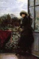 On the Terrace - Oil Painting Reproduction On Canvas