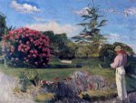 The Little Gardener - Jean Frederic Bazille Oil Painting