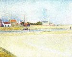 The Channel at Gravelins, Grand-Fort-Philippe - Georges Seurat Oil Painting