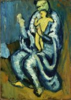 Motherhood II - Pablo Picasso Oil Painting