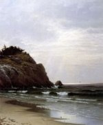 A Cloudy Day - Alfred Thompson Bricher Oil Painting