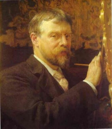 Self Portrait II - Sir Lawrence Alma-Tadema Oil Painting