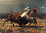 The Last of the Buffalo - Albert Bierstadt Oil Painting