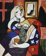 Woman with Book - Pablo Picasso Oil Painting