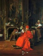 The Cardinal's Birthday - Francois Brunery Oil Painting