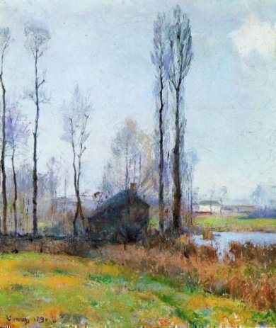 Moist Weather (France) - Robert Vonnoh Oil Painting