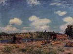 Boatyard at Saint-Mammes - Alfred Sisley Oil Painting