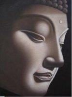 Gray Buddha - Oil Painting Reproduction On Canvas