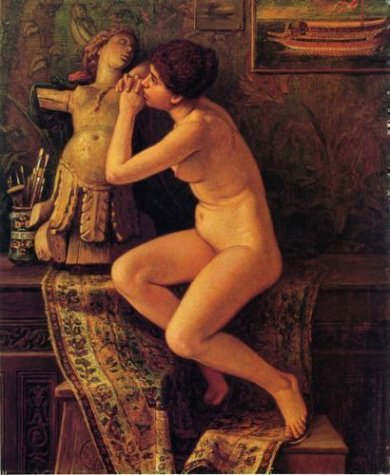 The Venetian Model - Elihu Vedder Oil Painting