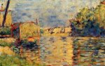 River's Edge - Georges Seurat Oil Painting