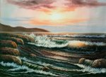 Beach at Sunset - Oil Painting Reproduction On Canvas