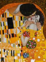 The Kiss V - Oil Painting Reproduction On Canvas Gustav Klimt Oil Painting