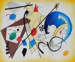 Throughgoing Line III - Wassily Kandinsky Oil Painting