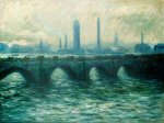 Waterloo Bridge III - Oil Painting Reproduction On Canvas