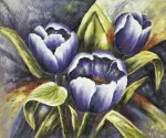 Bavarian Tulips III - Oil Painting Reproduction On Canvas